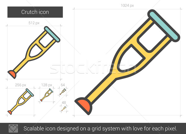 Kruk lijn icon vector geïsoleerd witte Stockfoto © RAStudio