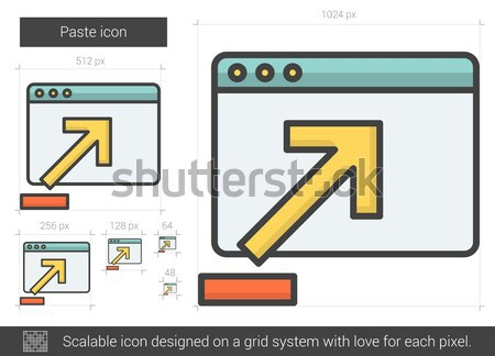 Paste line icon. Stock photo © RAStudio