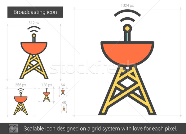 Broadcasting line icon. Stock photo © RAStudio