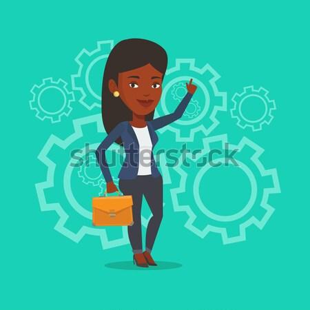 Man choosing career way vector illustration. Stock photo © RAStudio