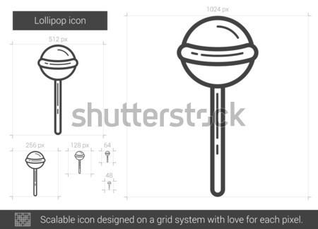 Lolipop hat ikon vektör yalıtılmış beyaz Stok fotoğraf © RAStudio