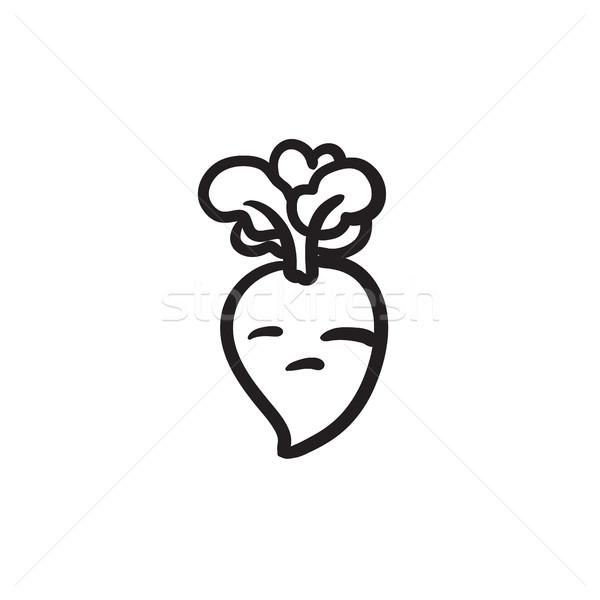 Beet sketch icon. Stock photo © RAStudio