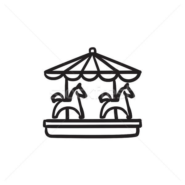 Merry-go-round sketch icon. Stock photo © RAStudio
