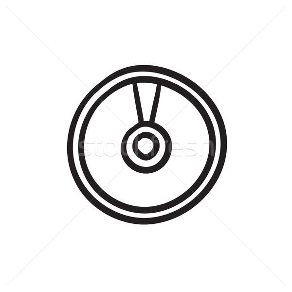 Lemez rajz ikon vektor izolált kézzel rajzolt Stock fotó © RAStudio