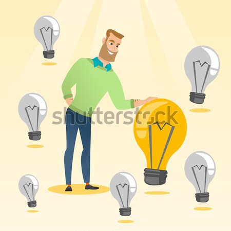 Businesswoman having business idea. Stock photo © RAStudio