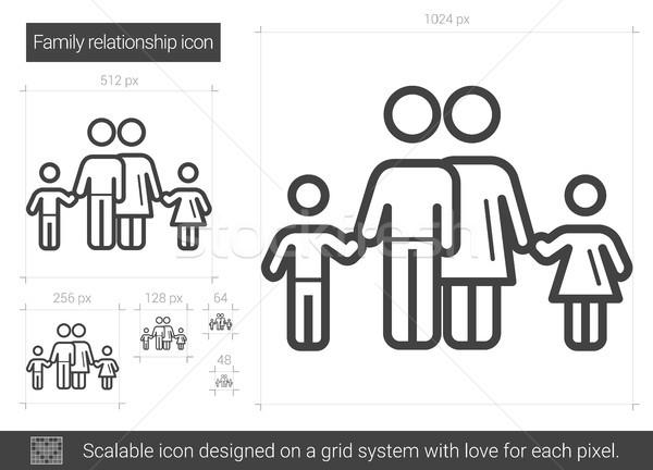 Family relationship line icon. Stock photo © RAStudio