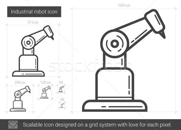 Сток-фото: промышленных · робота · линия · икона · вектора · изолированный