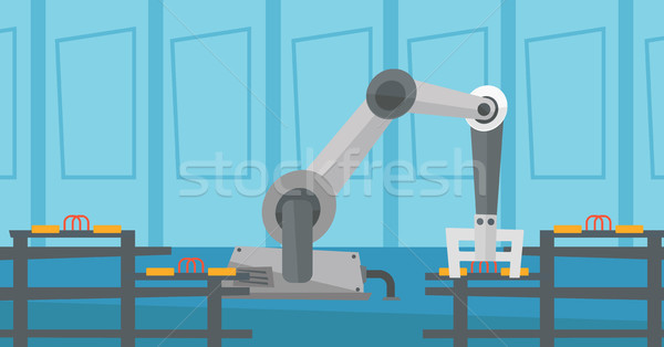 Automated robotic conveyor belt. Stock photo © RAStudio