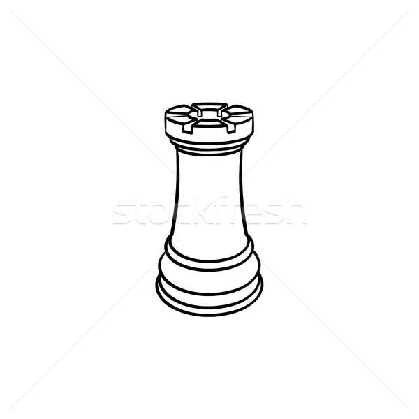 Sakk alkat kézzel rajzolt rajz ikon skicc Stock fotó © RAStudio