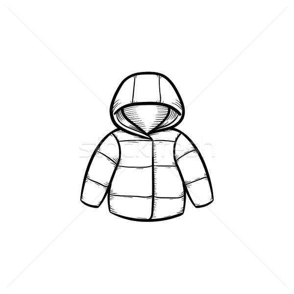 Gyermek kabát kézzel rajzolt skicc firka ikon Stock fotó © RAStudio