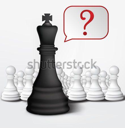 Dialog of Pawn and King Stock photo © RAStudio
