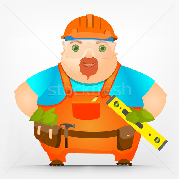 Cheerful Chubby Men Stock photo © RAStudio