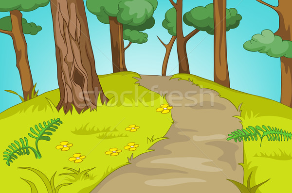 лес поляна Cartoon прибыль на акцию 10 весны Сток-фото © RAStudio
