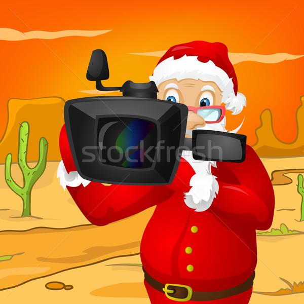 Дед Мороз вектора прибыль на акцию 10 солнце Сток-фото © RAStudio