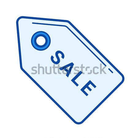 Sale tag thin line icon Stock photo © RAStudio