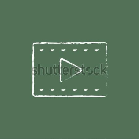 Filmstrip drawn in chalk Stock photo © RAStudio