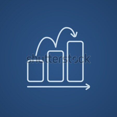 Business graph with red rising bar. Stock photo © RAStudio