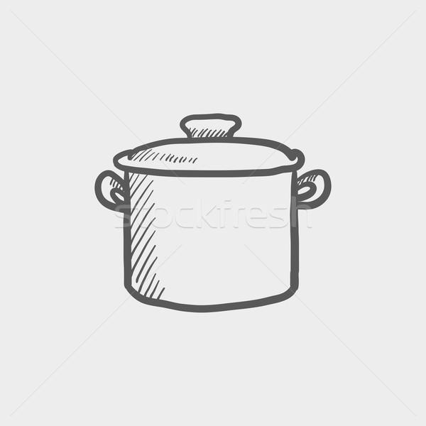 Casserole sketch icon Stock photo © RAStudio