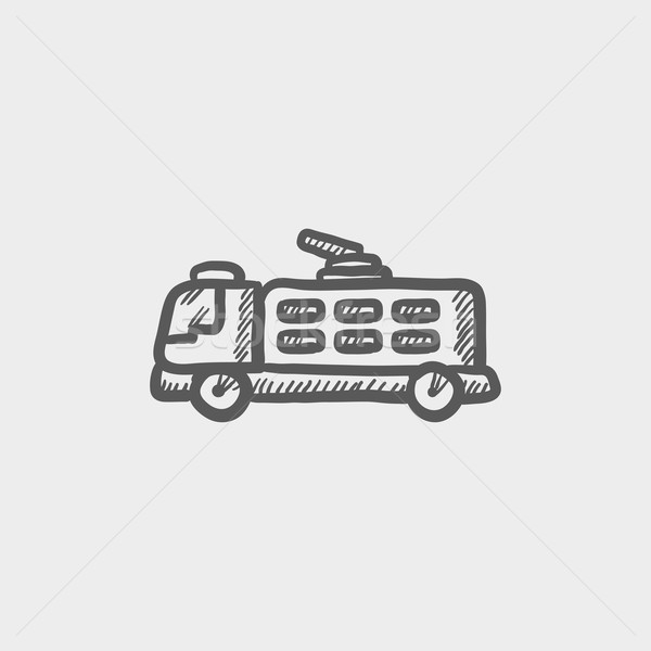 Fire truck sketch icon Stock photo © RAStudio