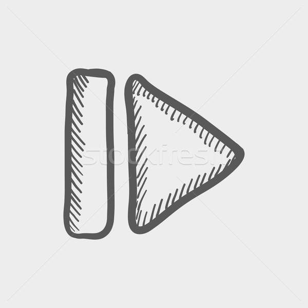 Next button sketch icon Stock photo © RAStudio