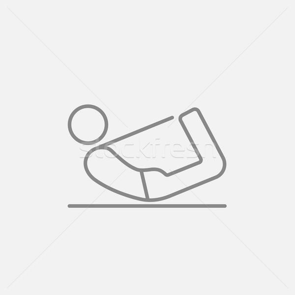 男 ヨガ 行 アイコン 弓 ストックフォト © RAStudio