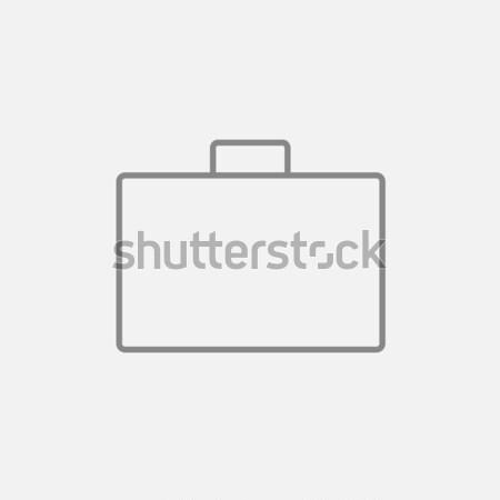 портфель линия икона веб мобильных Инфографика Сток-фото © RAStudio