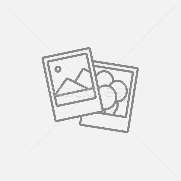 Photos line icon. Stock photo © RAStudio