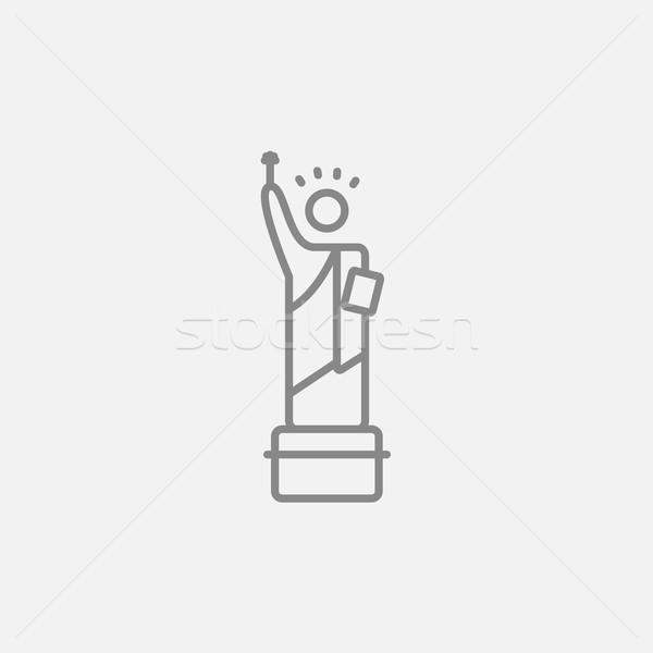 Statue of Liberty line icon. Stock photo © RAStudio