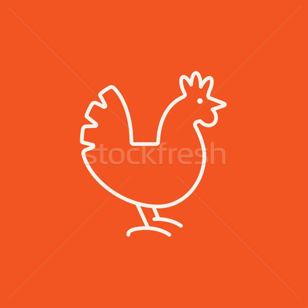 Hen line icon. Stock photo © RAStudio