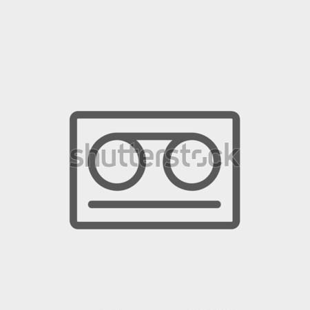 Kaseta taśmy line ikona internetowych komórkowych Zdjęcia stock © RAStudio