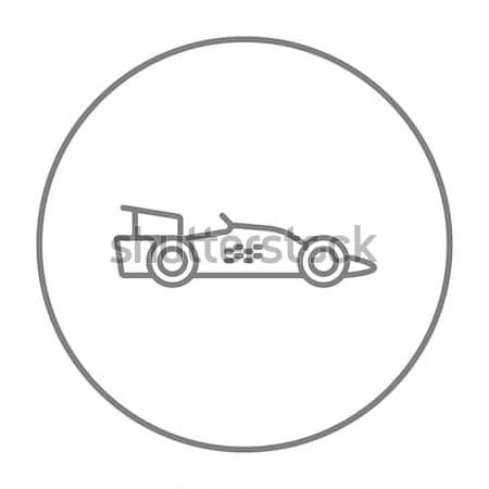 Race auto lijn icon web mobiele infographics Stockfoto © RAStudio