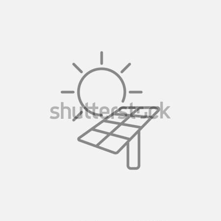 太陽エネルギー 行 アイコン 太陽 ウェブ ストックフォト © RAStudio