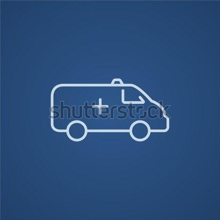 Ambulanza auto line icona web mobile Foto d'archivio © RAStudio