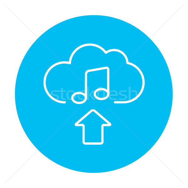 Upload music line icon. Stock photo © RAStudio