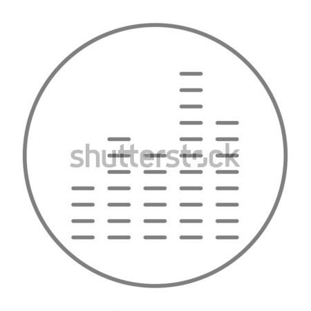Dijital ekolayzer hat ikon web hareketli Stok fotoğraf © RAStudio