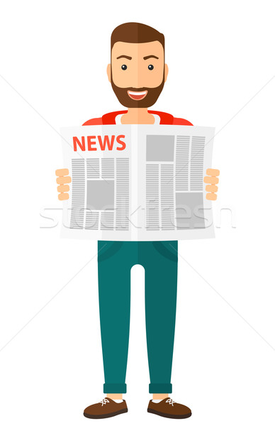 Reporter reading newspaper. Stock photo © RAStudio