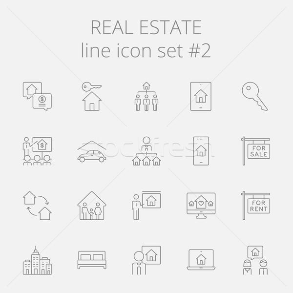 Real estate icon set. Stock photo © RAStudio