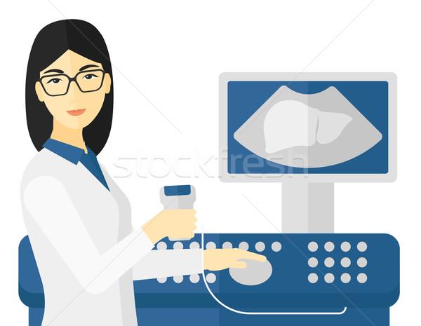 女性 超音波 スペシャリスト アジア ベクトル ストックフォト © RAStudio