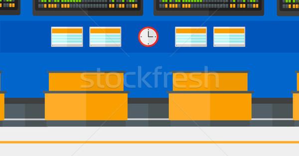 Background of schedule board in airport. Stock photo © RAStudio