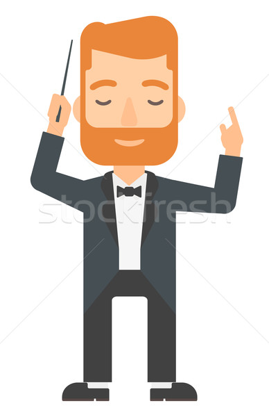 Conductor directing with his baton. Stock photo © RAStudio