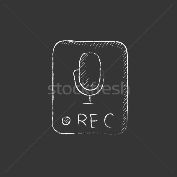 Record button. Drawn in chalk icon. Stock photo © RAStudio