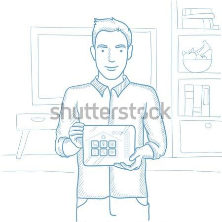 Smart домой применение человека Сток-фото © RAStudio