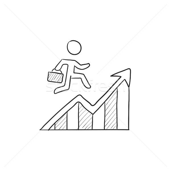 Financial recovery sketch icon. Stock photo © RAStudio
