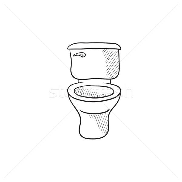 Lavatory bowl sketch icon. Stock photo © RAStudio