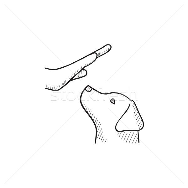 犬の訓練 スケッチ アイコン ベクトル 孤立した 手描き ストックフォト © RAStudio