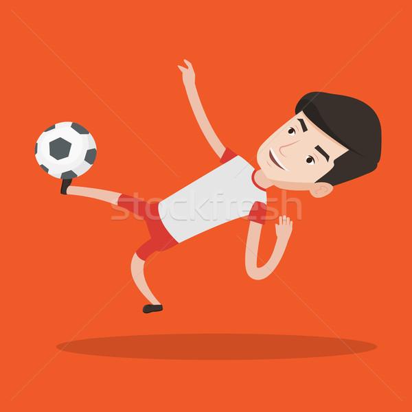 Piłkarz piłka młodych gry Zdjęcia stock © RAStudio