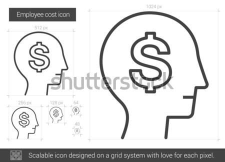 Işçi maliyet hat ikon vektör yalıtılmış Stok fotoğraf © RAStudio