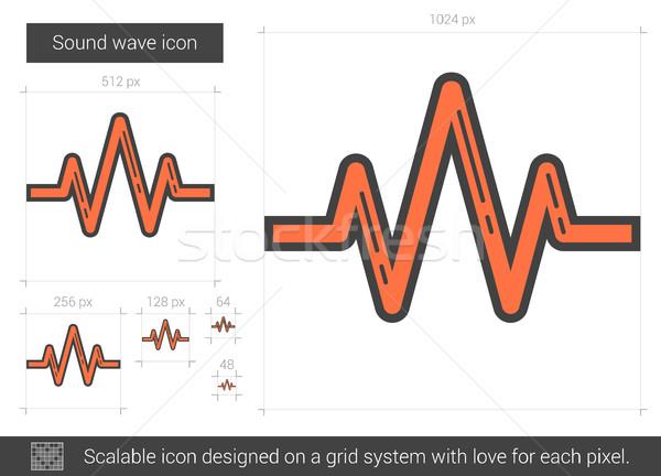 Sound wave line icon. Stock photo © RAStudio