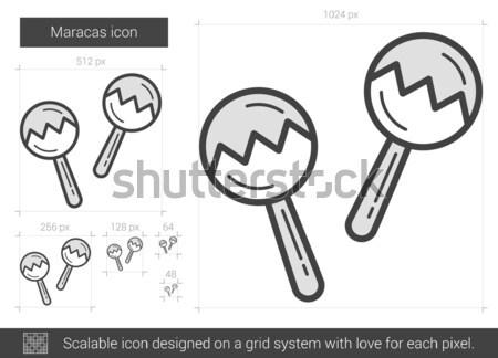 Maracas line icon. Stock photo © RAStudio