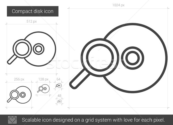 Compact disk line icon. Stock photo © RAStudio
